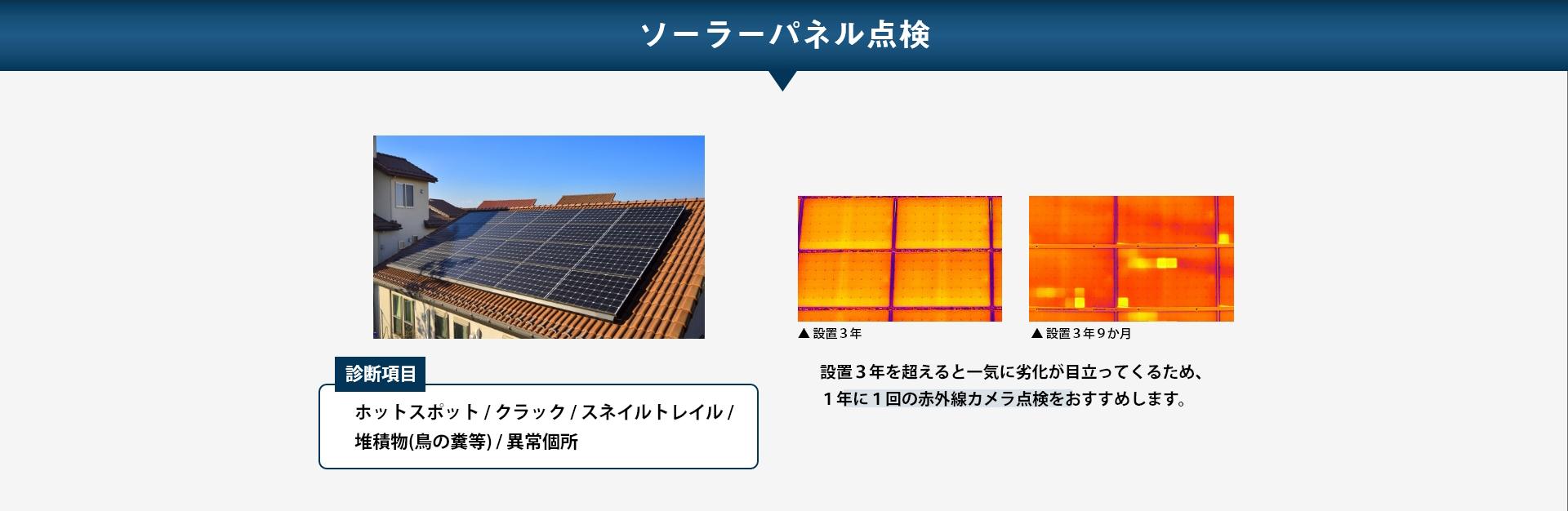 ソーラーパネル点検